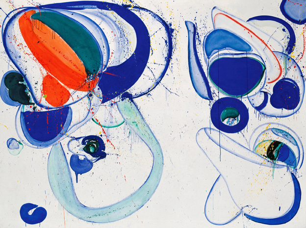 Sam Francis, As for the Open, 1962–1963, Öl auf Leinwand, 182 x 244 cm, © Hamburger Kunsthalle / bpk, Foto: Christoph Irrgang, © VG Bild-Kunst, Bonn 2021